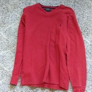 Polo thermal sweater